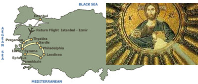 map of the seven churches in turkey