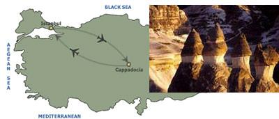 cappadocia map turkey