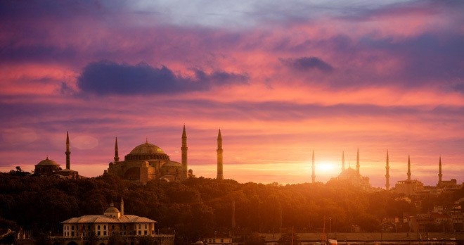 sultanahmet sunset istanbul