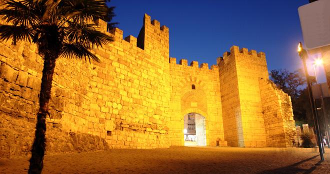 bursa city walls night