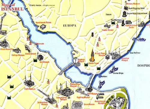 Istanbul Map | Istanbul Turkey Map | Istanbul City Maps | Istanbul Tours