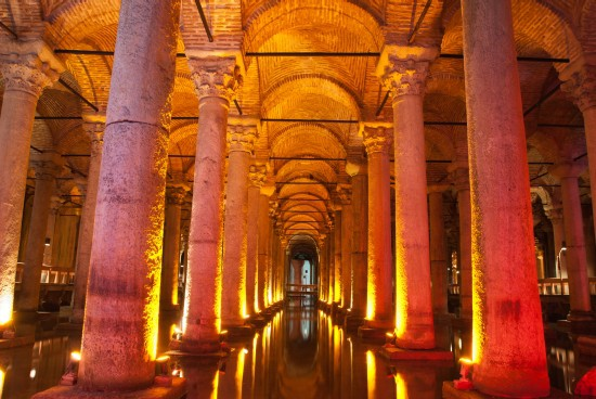 Underground Cisterns | Underground Bascilica Cistern - Istanbul travel information guide